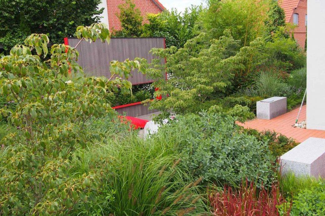 Überblick auf den Garten