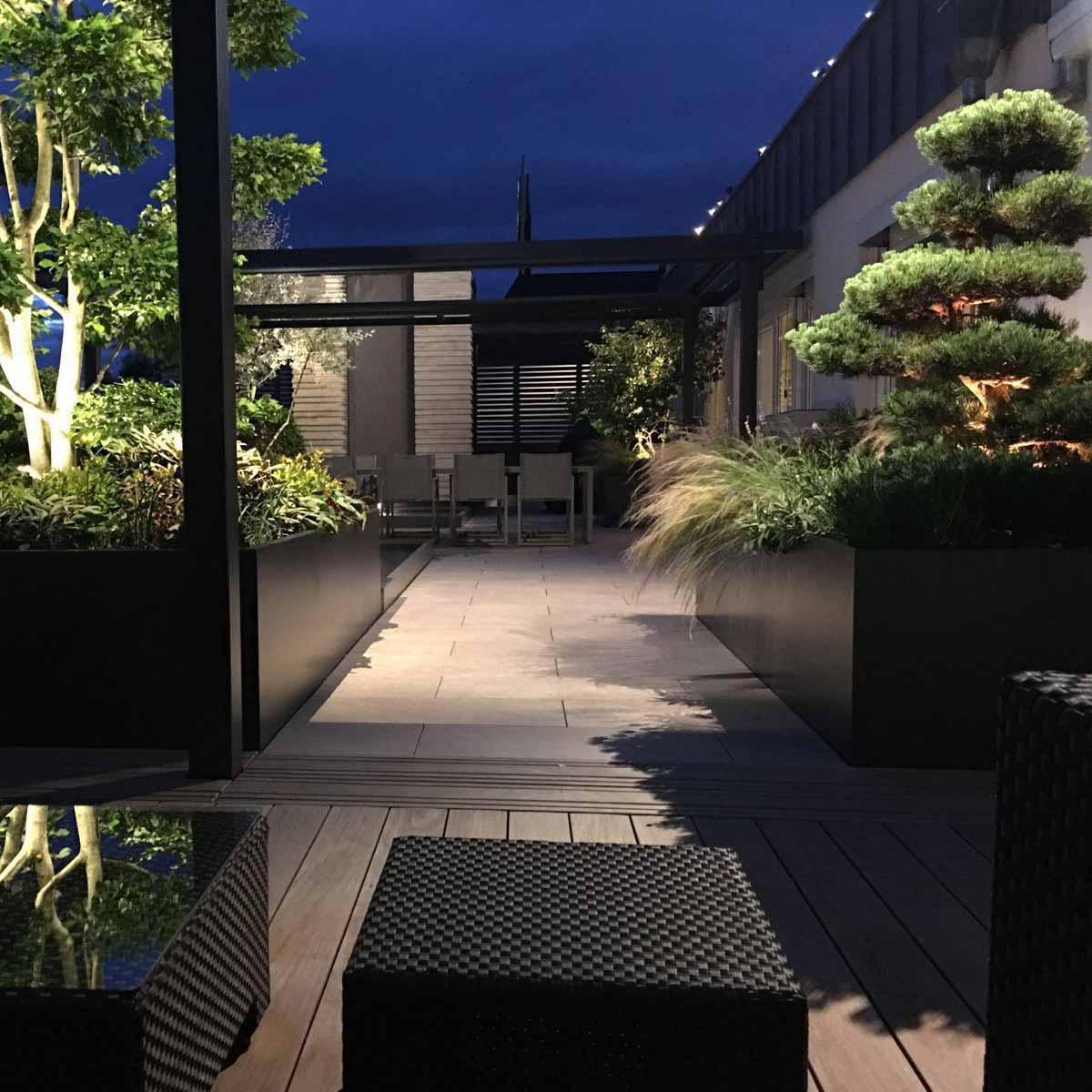 Dachterrasse mit Carpinus Bonsai